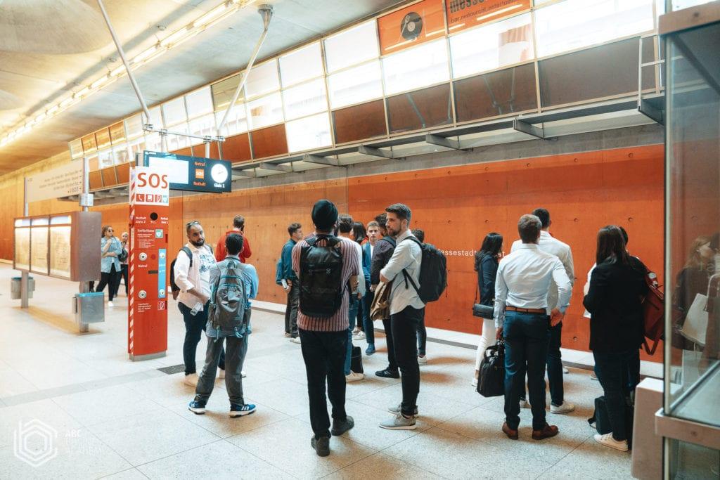 commuting in Munich underground